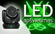 LED šviesos technika, LED wash, LED Spot, LED Beam
